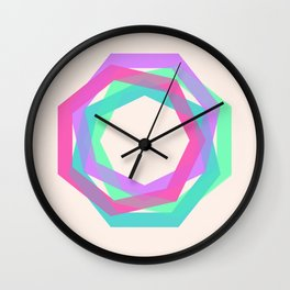 geo particles Wall Clock