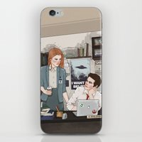 lydia martin iPhone & iPod Skins featuring Teen Wolf X-Files AU (Stiles Stilinski & Lydia Martin) by vulcains
