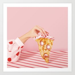 Pepper-mint-oni Pizza Art Print