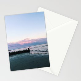 old saybrook town beach sunset photograph Stationery Cards