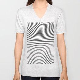 Organic Abstract 02 WHITE Unisex V-Neck