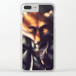 Country Club Collection #5 - I'm a Patient Fox Clear iPhone Case