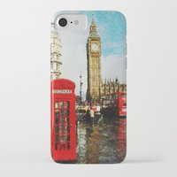 england iPhone & iPod Cases featuring London, England by Abby Gracey