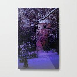 Concept Baden-Wurttemberg : Winter scenery castle park Laupheim Metal Print