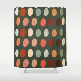 Hand drawn pastel dots pattern Shower Curtain
