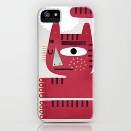 Red Cat iPhone Case