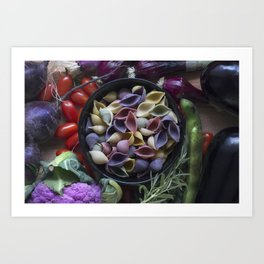 Nightshaded pasta ingredients Art Print
