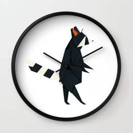 Racсoon Origami Wall Clock