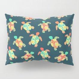 Cute Flower Child Hippy Turtles Pillow Sham