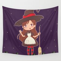witch Wall Tapestries featuring Witch by Crossankle