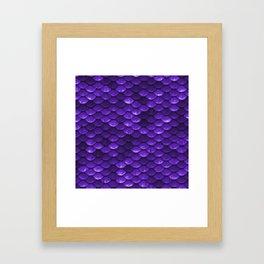 Purple Mermaid Tail Scales Framed Art Print