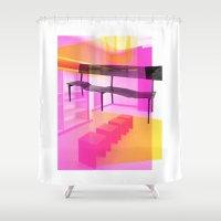 bauhaus Shower Curtains featuring Bauhaus by mJdesign