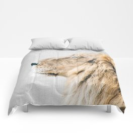Lion Portrait - Colorful Comforters