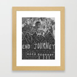 an end to journey towards Framed Art Print