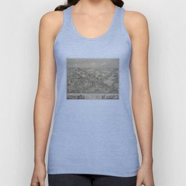 Vintage Pictorial Map of Guilford CT (1881) Unisex Tank Top