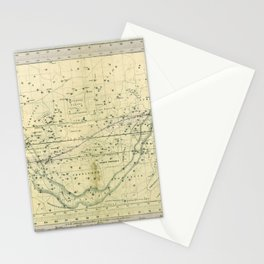 A Celestial Planisphere or Map of The Heavens Stationery Cards