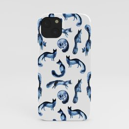 A pack of silver foxes. iPhone Case