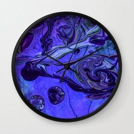 Purple Vortex Wall Clock