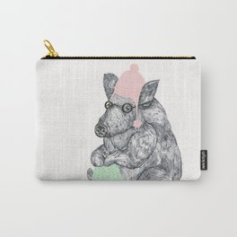 Mr Boar Knit Carry-All Pouch