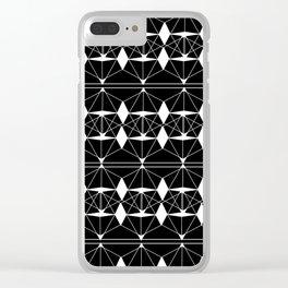 white diamonds Clear iPhone Case
