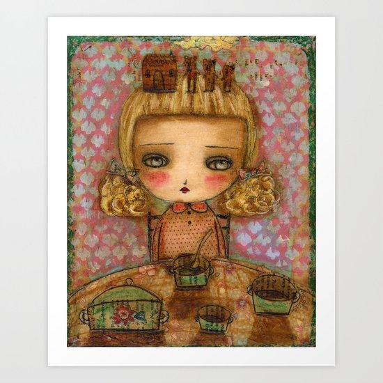 "Goldilocks thinks ""It's for me!"" Art Print"
