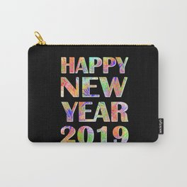 Happy New Year 2019 New Year's Eve Party Gift Carry-All Pouch