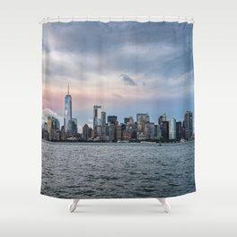 Skyline  of New York City at sunset Shower Curtain
