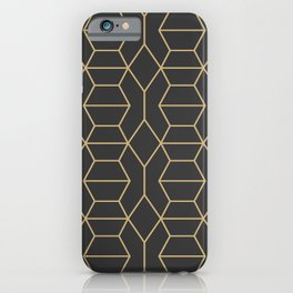 Comb in Charcoal and Gold iPhone Case
