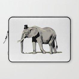 Elephant Wearing Tiny Top Hat Laptop Sleeve