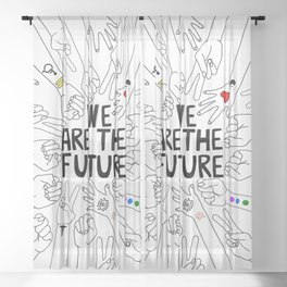 We Are The Future Tattoos Part 2 Sheer Curtain