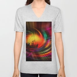 Our world is a magic - Time Tunnel 5 Unisex V-Neck