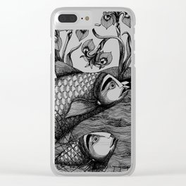 The Golden Fish (1) Clear iPhone Case