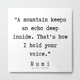 44    Rumi Quotes    190921 Metal Print