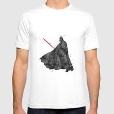 Darth Vader Star . Wars White Mens Fitted Tee LARGE