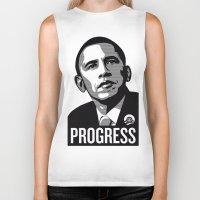obama Biker Tanks featuring Obama by loveme