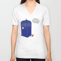tardis V-neck T-shirts featuring Tardis by Elizabeth A