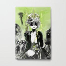 Necroette in the Deadlands Metal Print