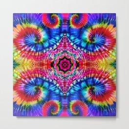 Tie-Dye Psychedelic Metal Print