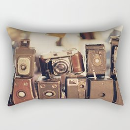 Old Cameras (Vintage and Retro Film Cameras Collection) Rectangular Pillow