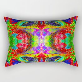 Psychedelic Landscape Rectangular Pillow