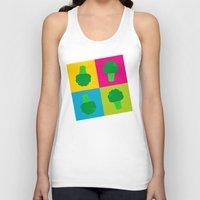 popart Tank Tops featuring Popart Broccoli by XOOXOO