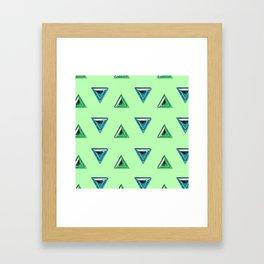 Trillion Gemstone Pattern Framed Art Print