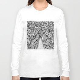 Peacock Black + White Long Sleeve T-shirt