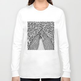 Peacock Black + White Long Sleeve T-shirt