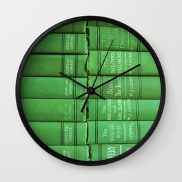 Antique Green Spines Wall Clock