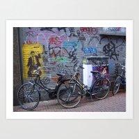 Graffiti in Amsterdam  Art Print