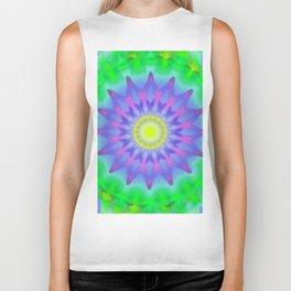 Abstract Flower AA YY Biker Tank