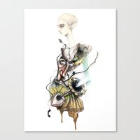 dali Canvas Prints featuring Dali by ginosunscreen