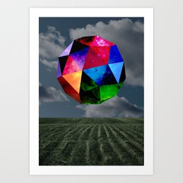 Intergalactic Polygon Art Print