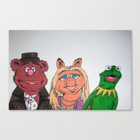 muppets Canvas Prints featuring Muppets. by jaytay